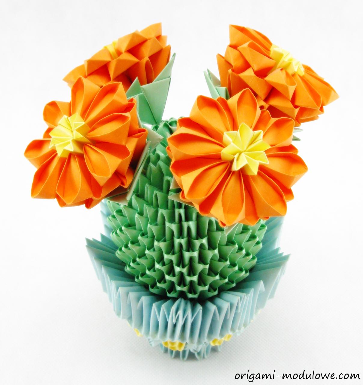 Origami modułowe – Kaktus | Origami Modułowe
