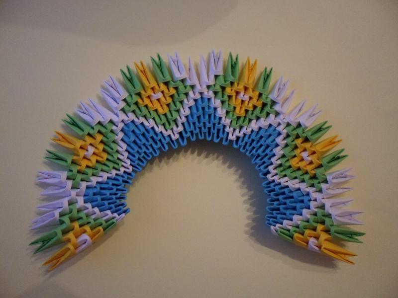 Днем рождения, открытки из модульного оригами