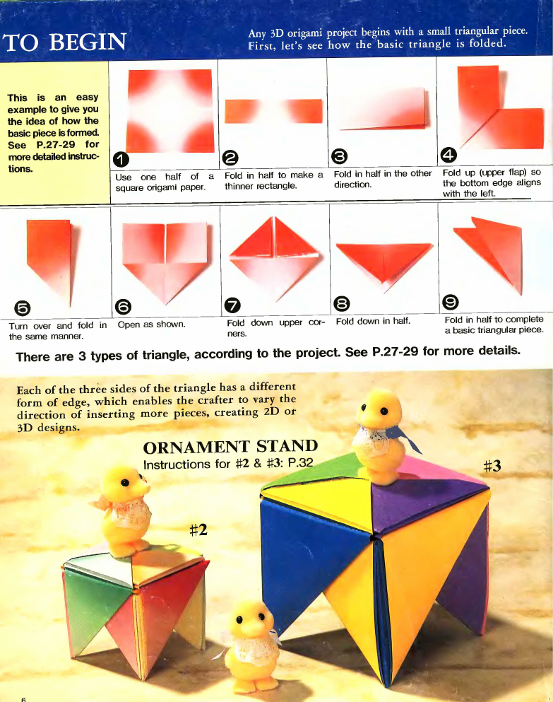 Origami 3d Step By Step Illustrations